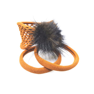 Traya - Mink Poof Pony (Rust - 3pc)