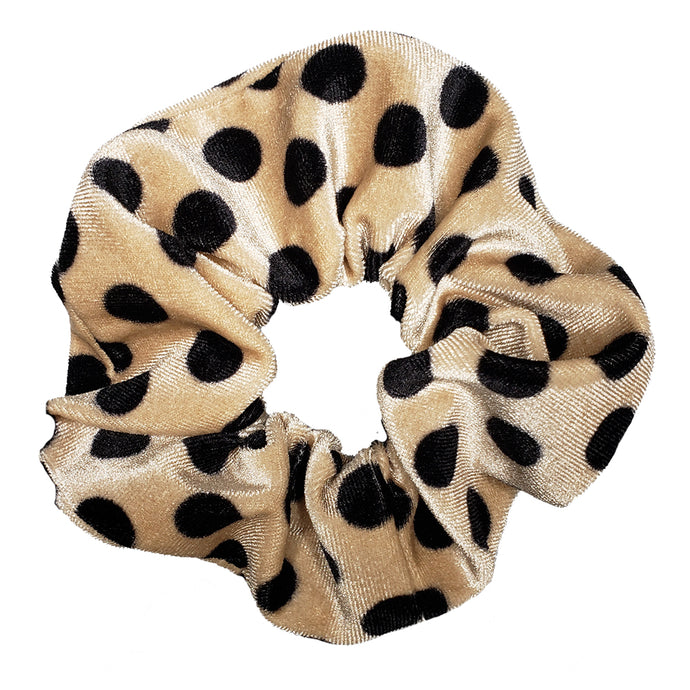 Untamed Large Velvet Scrunchie (Brown Leopard)