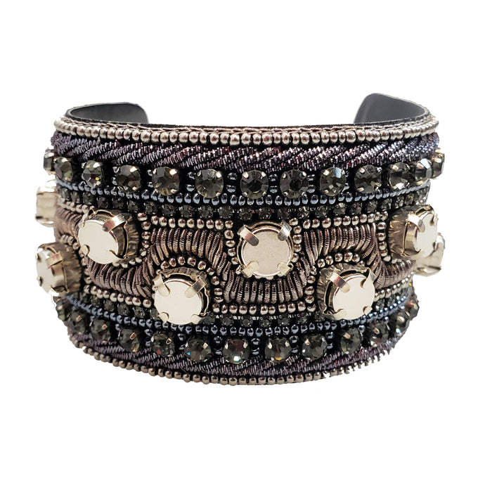 Bendable Magnetic Pin and Makeup Holder Bracelet - (Wide Onyx)