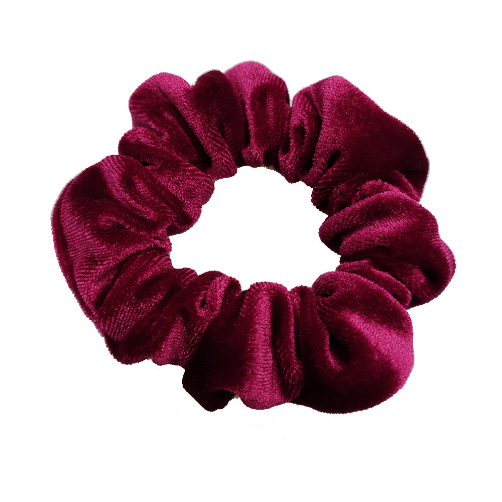 Luxe Velvet Scrunchie (Cherry)