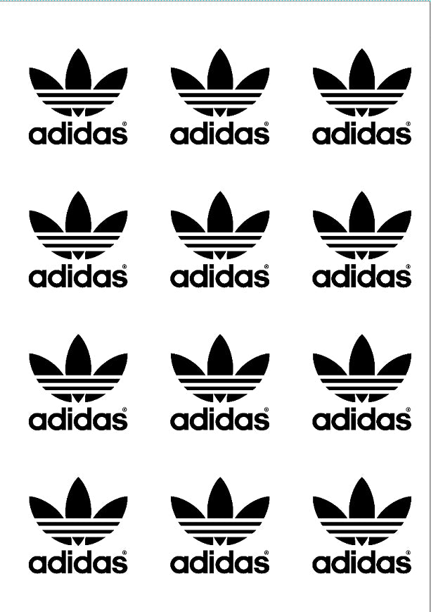 adidas logo edible print premium cupcake cookie toppers frosting sheet edible toppers more edible toppers more