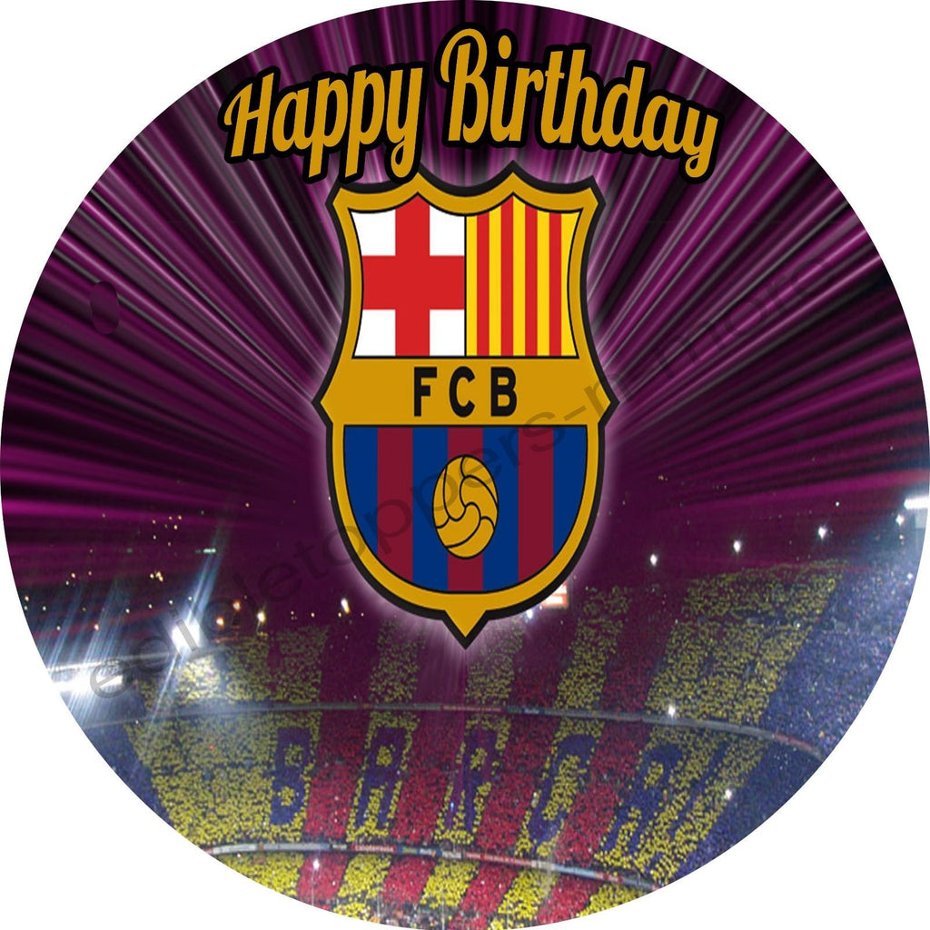 fc barcelona personalized edible print premium cake topper frosting sh edible toppers more usd