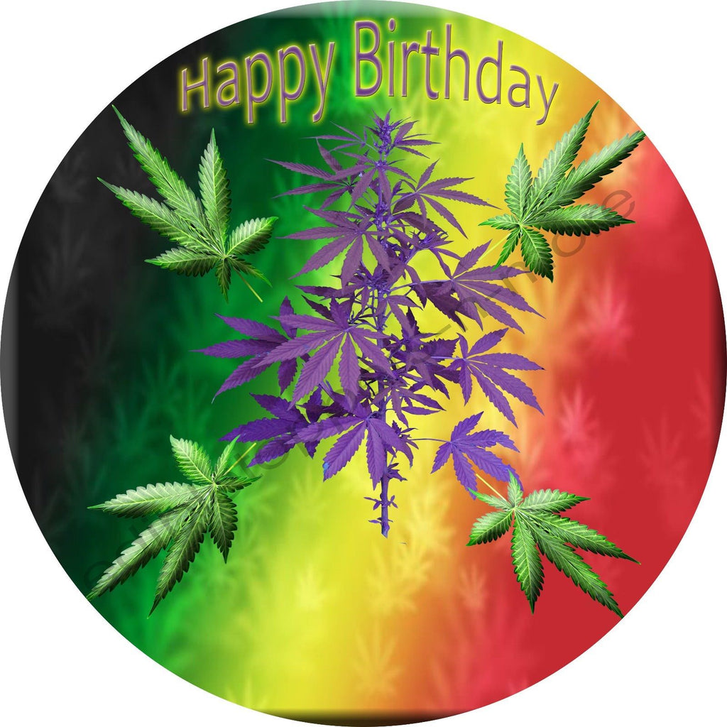 Marijuana Personalized Edible Print Premium Cake Topper Frosting Sheets 5 Sizes