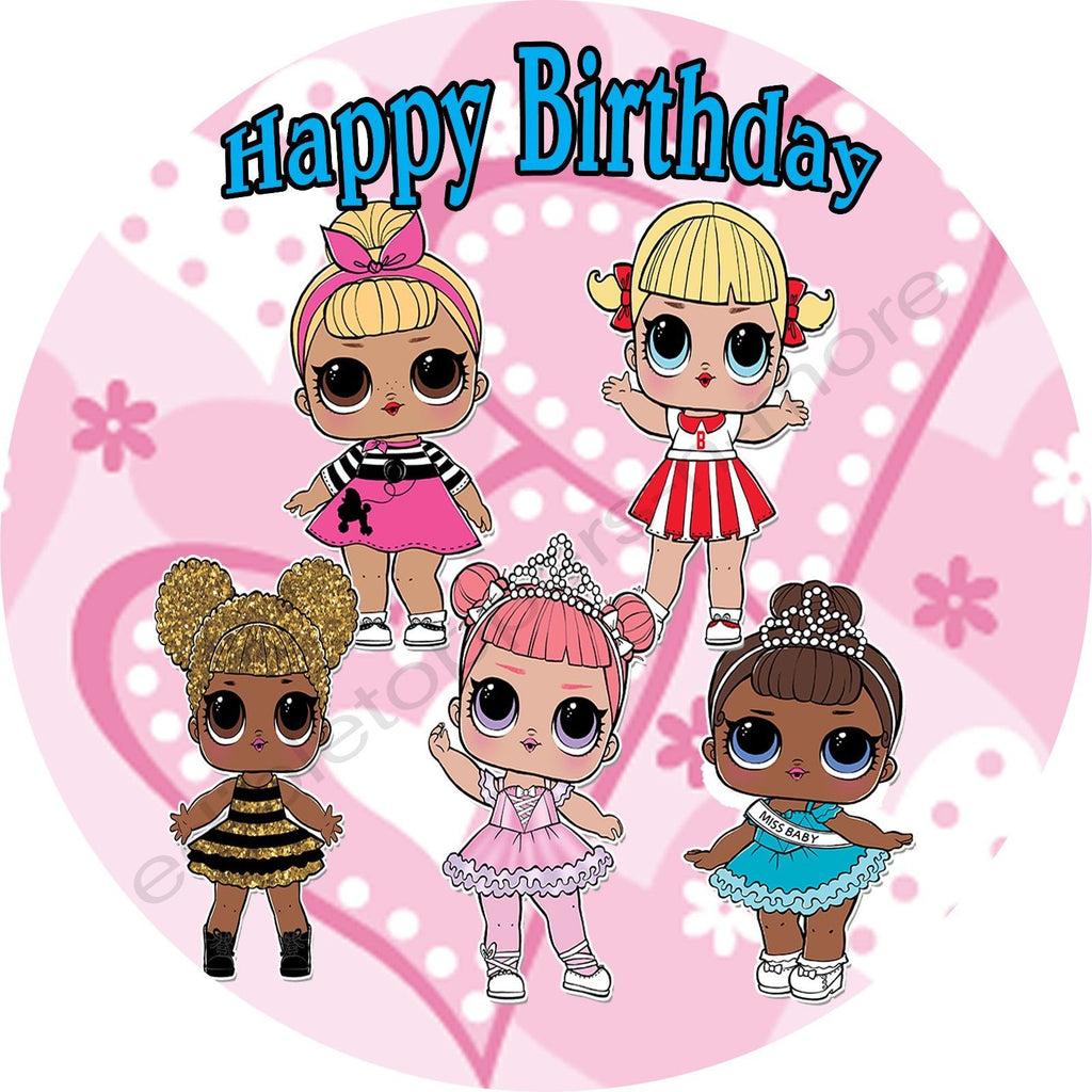 Lol Dolls Personalized Edible Print Premium Cake Topper Frosting Sheet Edible Toppers More