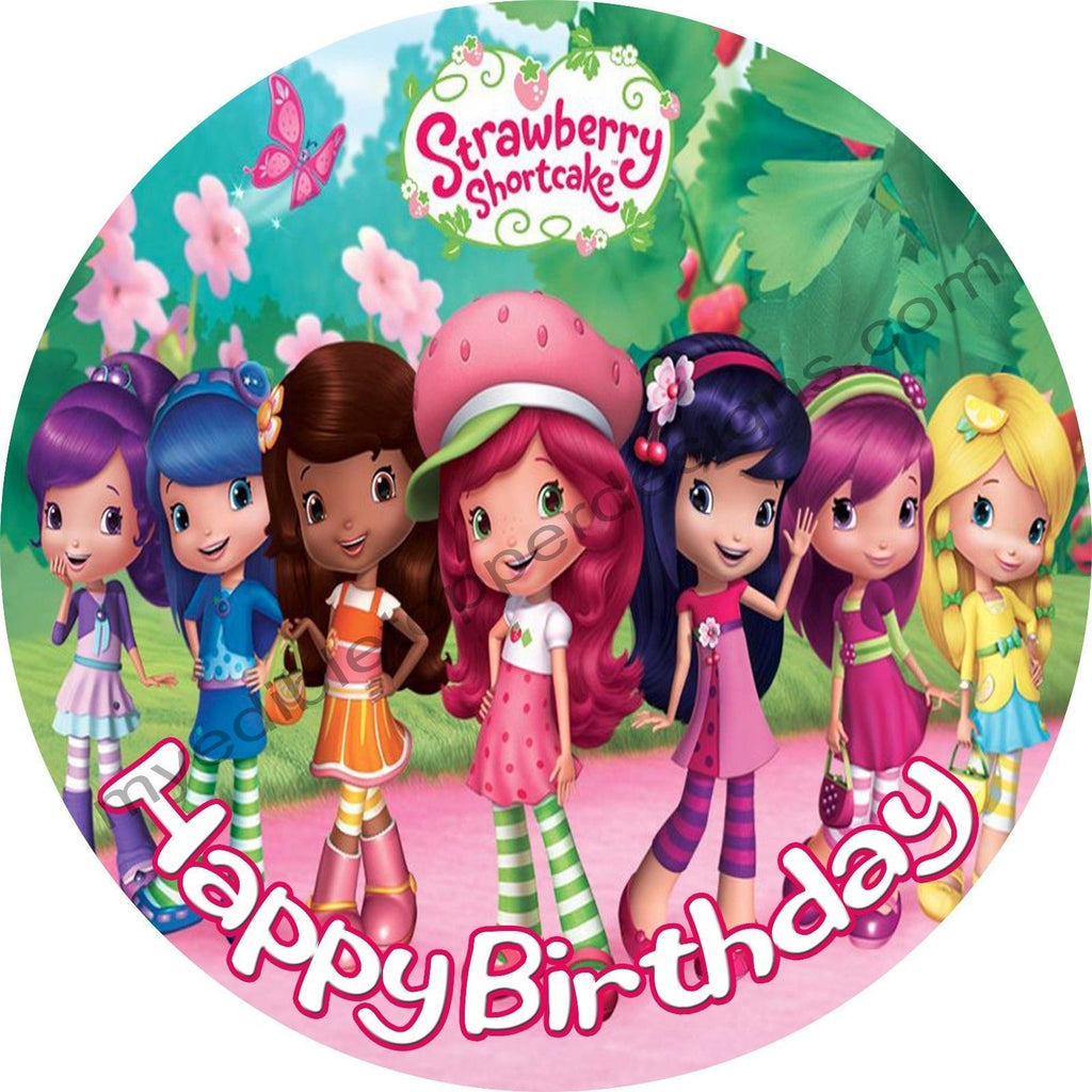 Awe Inspiring Strawberry Shortcake Personalized Edible Print Premium Cake Topper Funny Birthday Cards Online Elaedamsfinfo