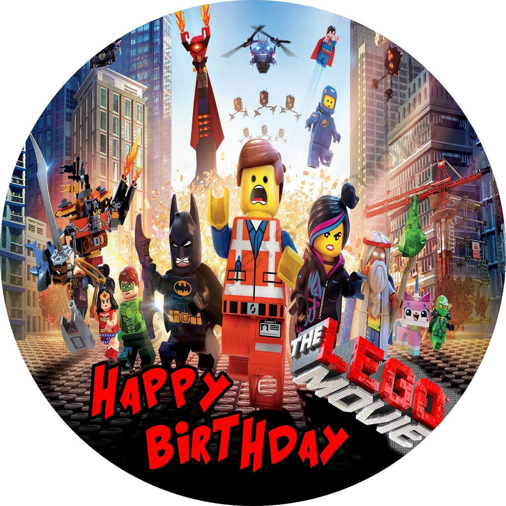A4 Edible Lego Movie cake topper available on rice paper or icing sheet