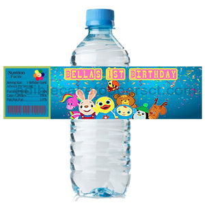 (20) Personalized BABY FIRST 2 x 8 Weatherproof Water Bottle Labels Party Favors