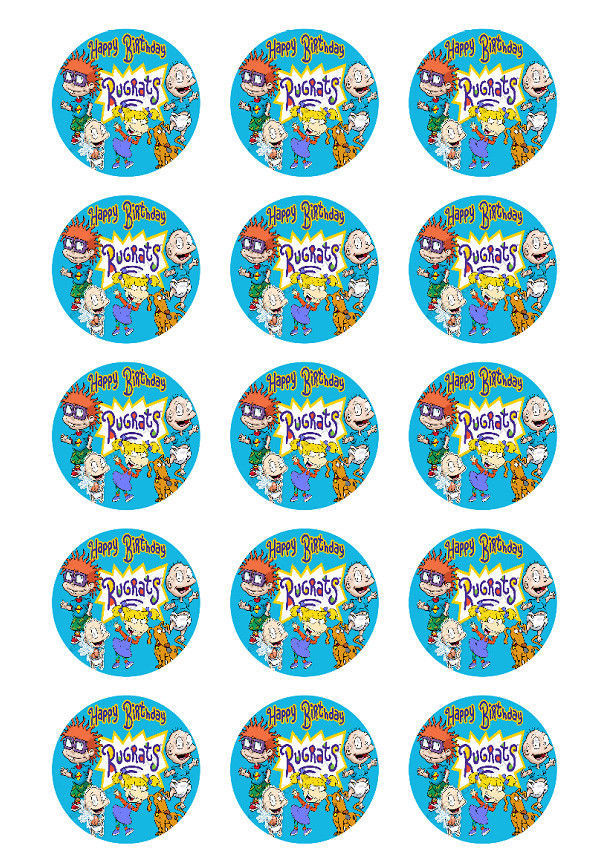 Rugrats Personalized Edible Print Premium Cake Topper Frosting Sheets Edible Toppers Amp More