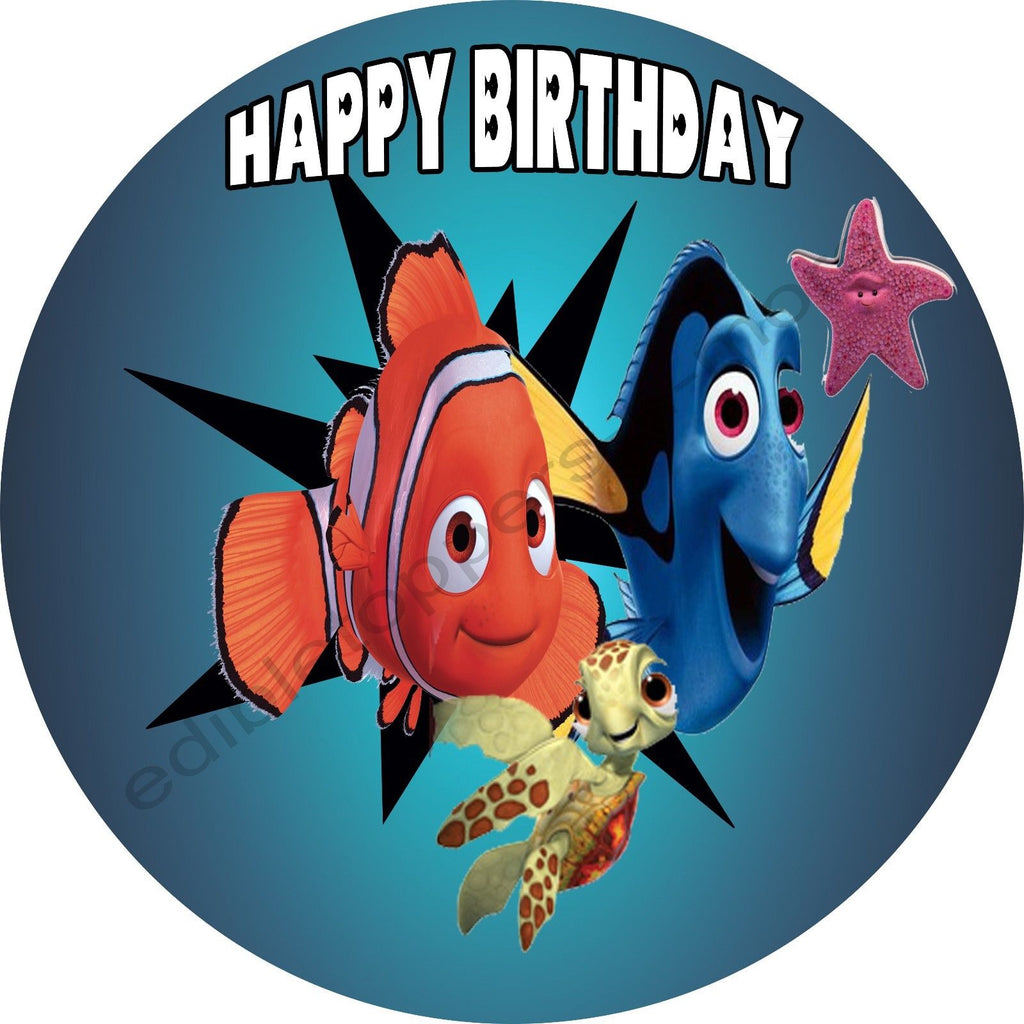 Finding Nemo Personalized Edible Print Premium Cake Topper