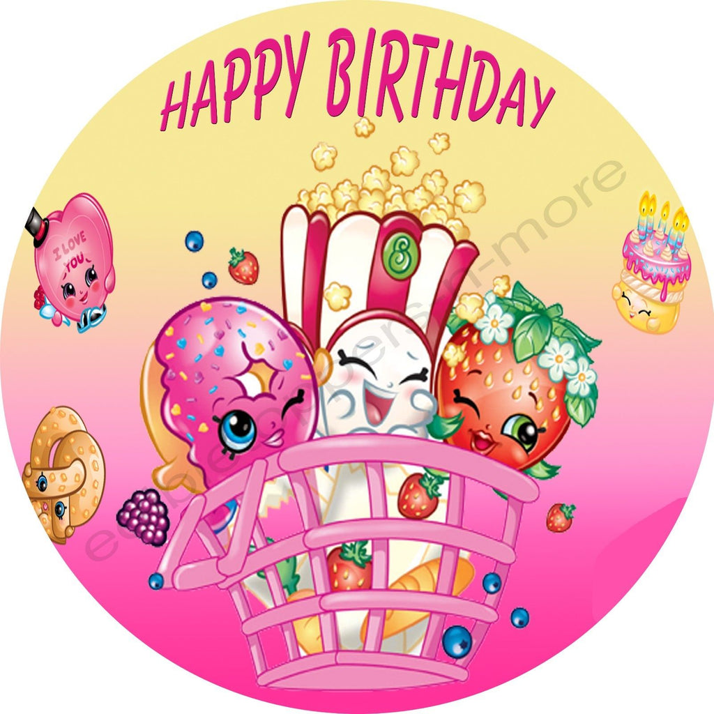 Shopkins Personalized Edible Print Premium Cake Topper ...