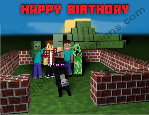 Edible Cake Toppers Tagged Minecraft Edible Toppers More