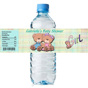 (20) Personalized BABY SHOWER 2 x 8 Weatherproof Water Bottle Labels Party Favors