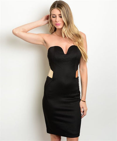 Black Gold Dress
