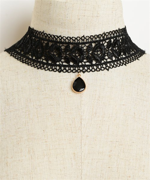 Gem Floral Design Necklace Choker
