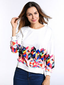 Print Long Sleeve Sweater