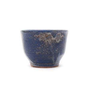 Kiln Fired Ceramic Bowl - Blue/Grey Glazed