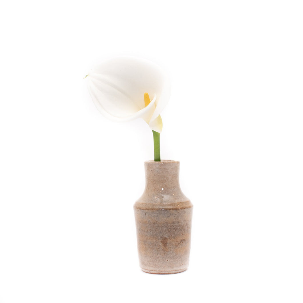 Kiln Fired Ceramic Mini Vase - White Glazed