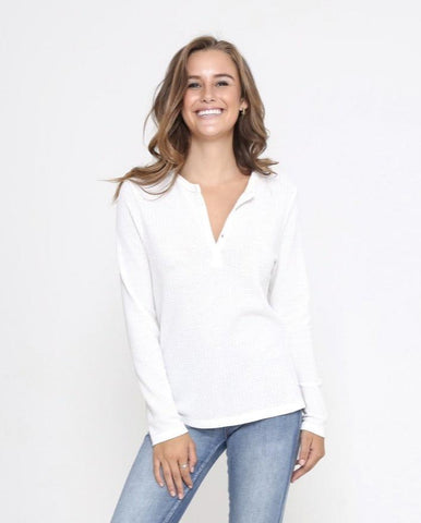 Jordan Henley - WHITE, Top, Honey & Co Online Boutique, Honey & Co Online Boutique - Honey & Co Online Boutique