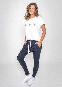 Navy Joggers, pants, Honey & Co Online Boutique, Honey & Co Online Boutique - Honey & Co Online Boutique