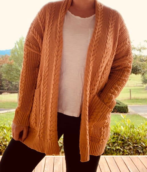 Nanna Cardi - Mustard, Jumper, Honey & Co Online Boutique, Honey & Co Online Boutique - Honey & Co Online Boutique