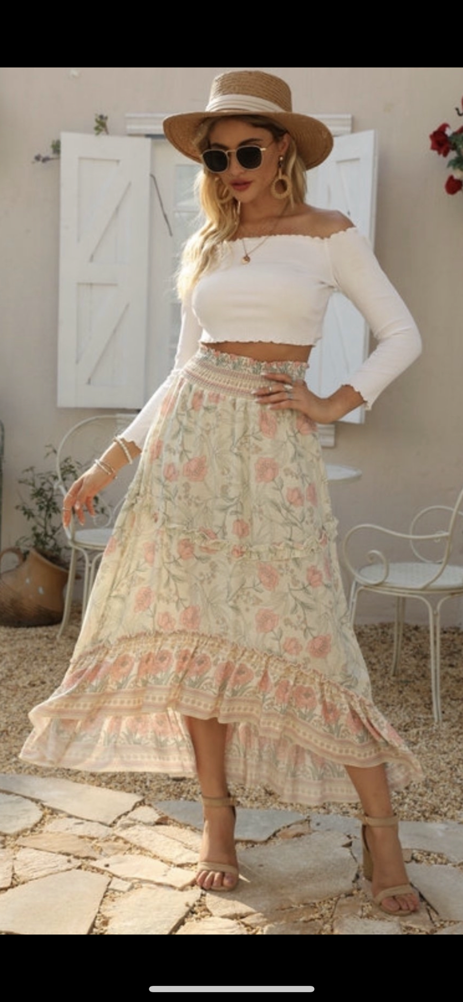 Iris maxi skirt, skirt, Honey & Co Online Boutique, Honey & Co Online Boutique - Honey & Co Online Boutique