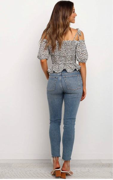 Grace Animal Print Top, Top, Honey & Co Online Boutique, Honey & Co Online Boutique - Honey & Co Online Boutique