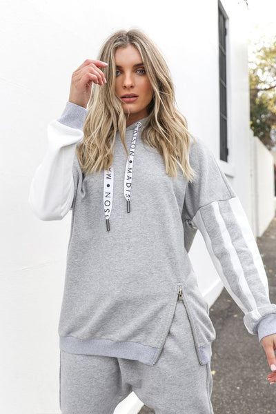 Hudson Grey Hoodie, Jumper, Honey & Co Online Boutique, Honey & Co Online Boutique - Honey & Co Online Boutique