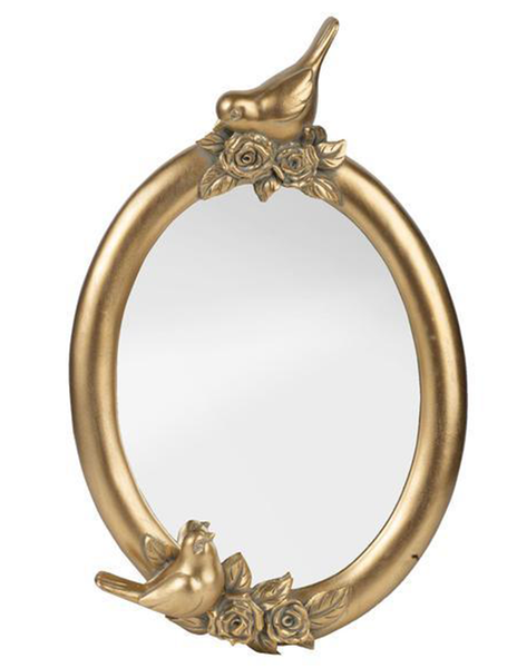 GARDEN BIRD GOLDEN MIRROR - decorstore
