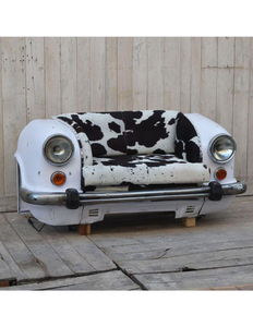 Cowhide Vintage Car Sofa - decorstore