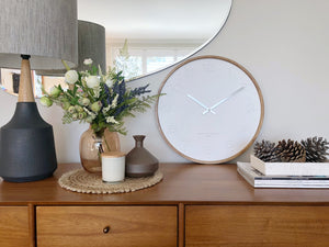 Gaia White 50Cm Wall Clock - decorstore