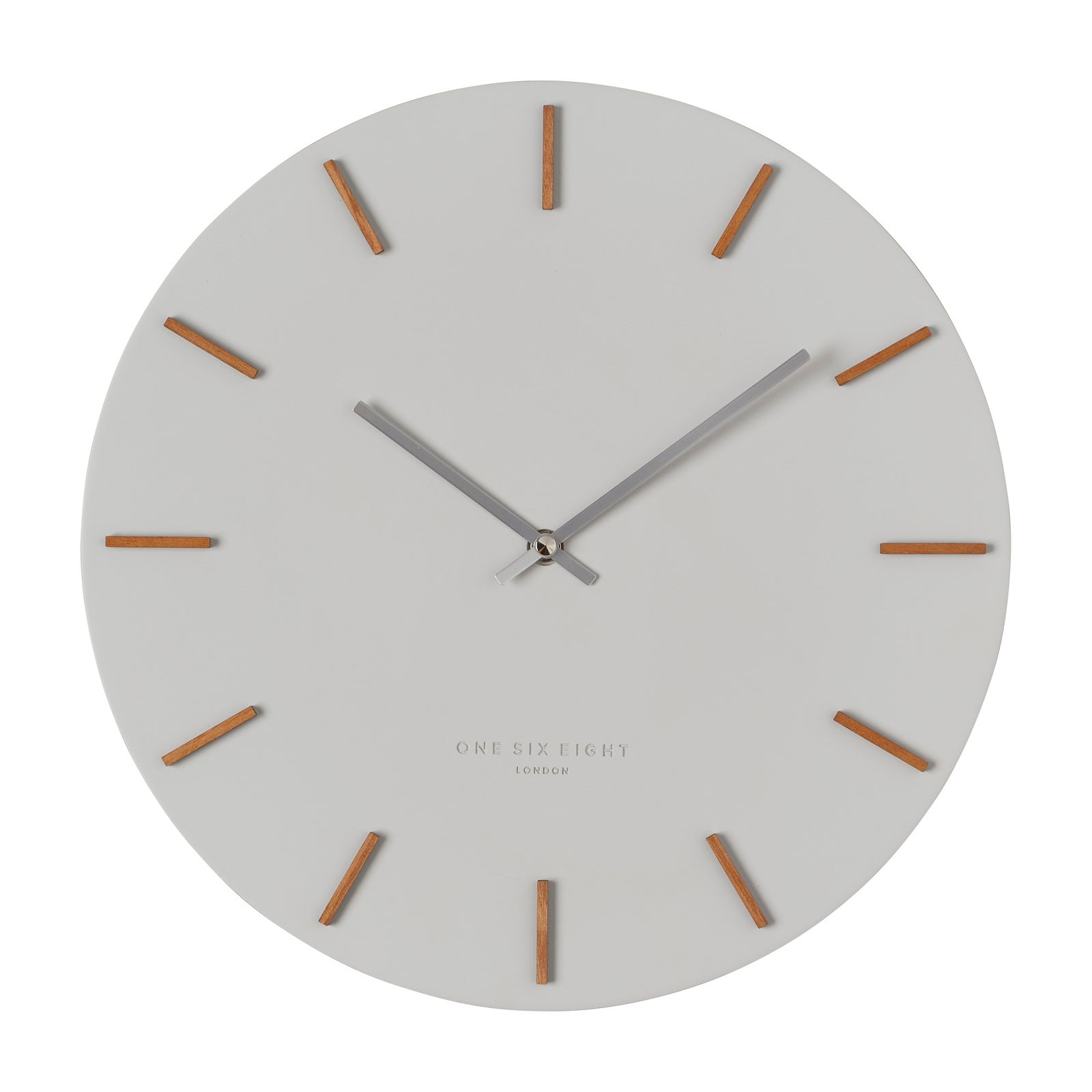 Ivy Cool Grey 35Cm Silent Wall Clock - decorstore