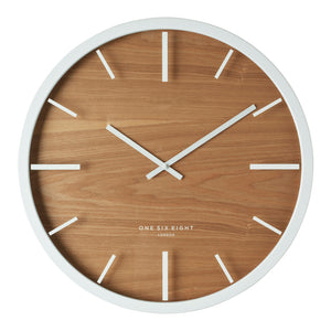 Willow White 50Cm Silent Wall Clock - decorstore