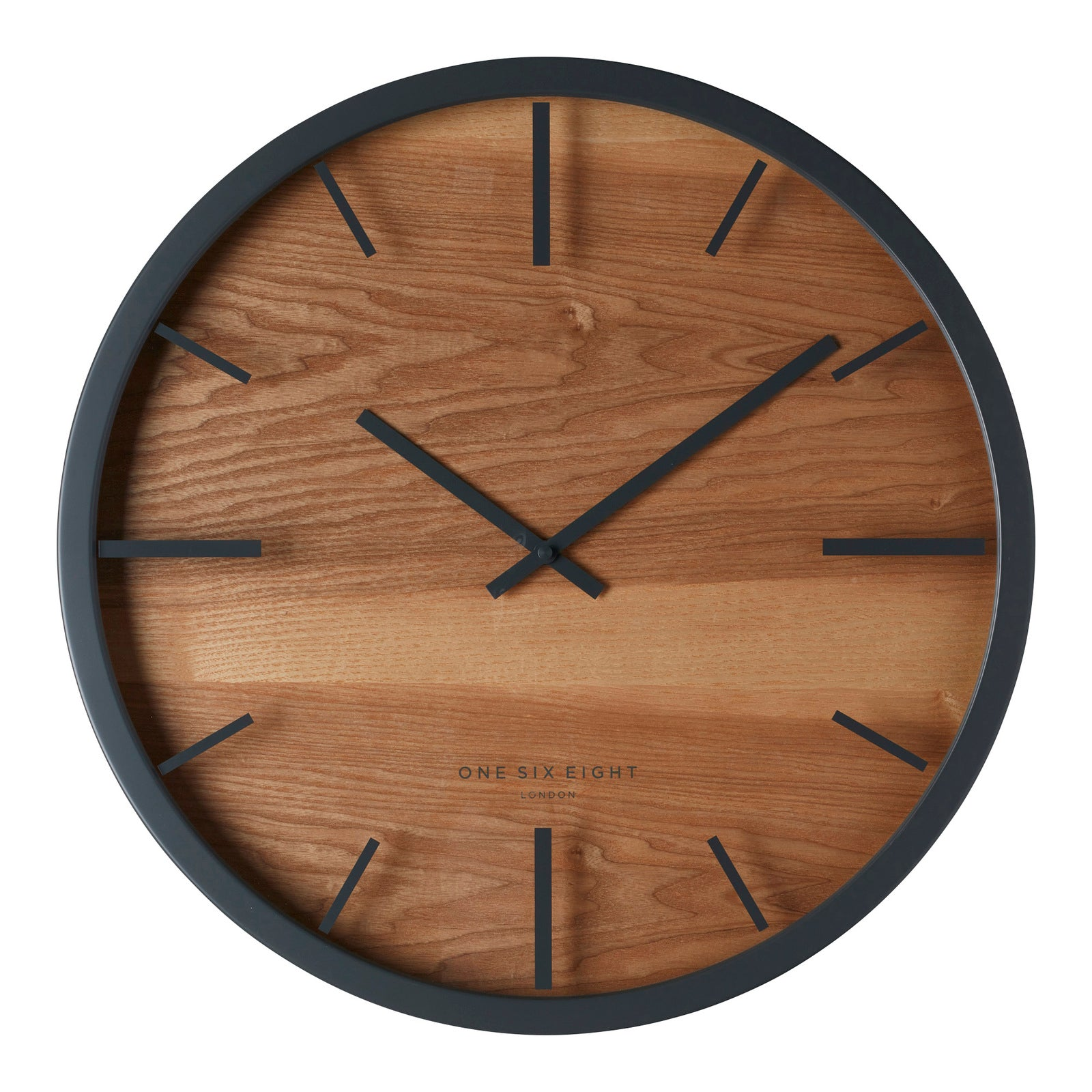 Willow Charcoal Grey 50Cm Silent Wall Clock - decorstore