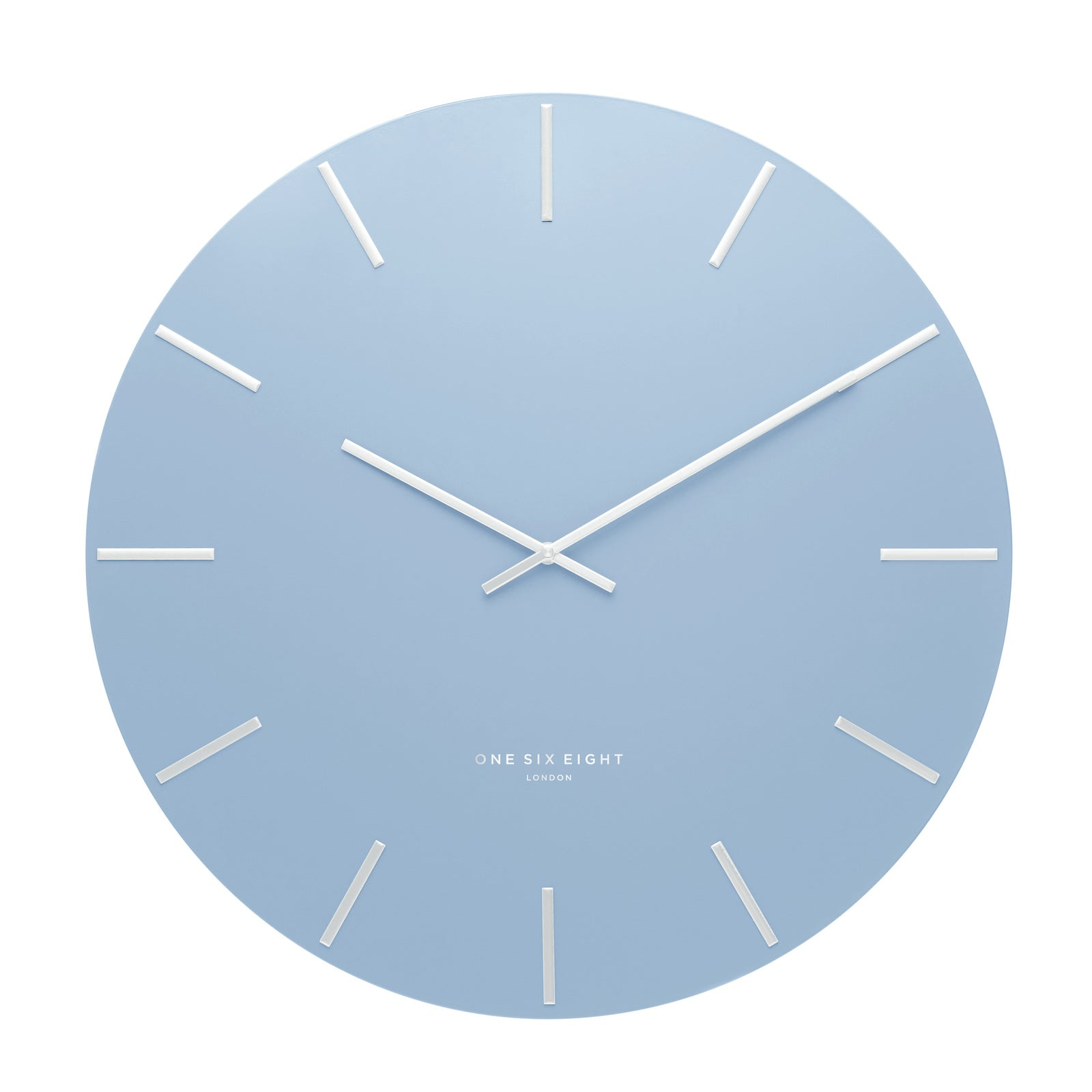 Luca Pastel Blue 60Cm Silent Wall Clock - decorstore