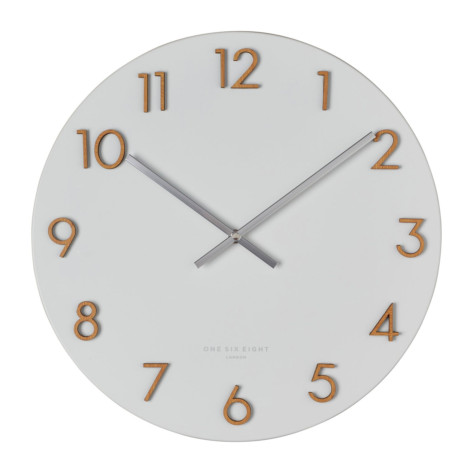 Katlyn White 40Cm Metal Wall Clock - decorstore
