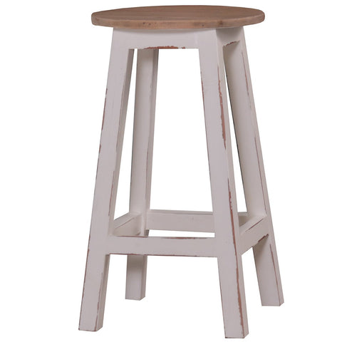BROADBEACH COUNTER STOOL-WHITE HEAVY DISTRESS - decorstore