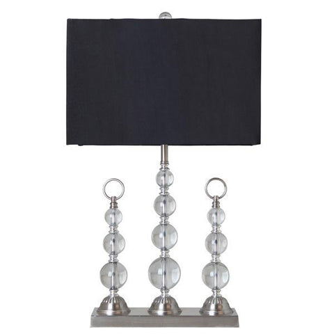 Trio Crystal Table Lamp w/Black Shade - decorstore