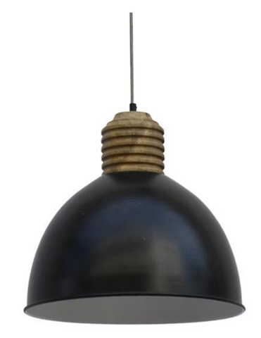 Matte Black Wooden Dipper Lampshade - decorstore