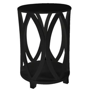 Bonnie Round Side Table Black - decorstore