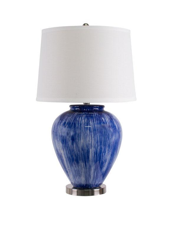 Athena Light Blue Table Lamp - decorstore
