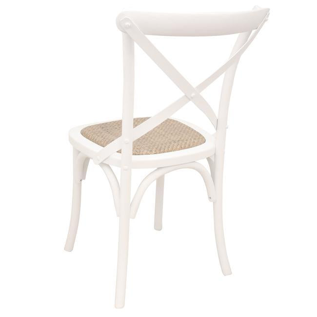 Crossback Dining Chair White No Distressing - decorstore