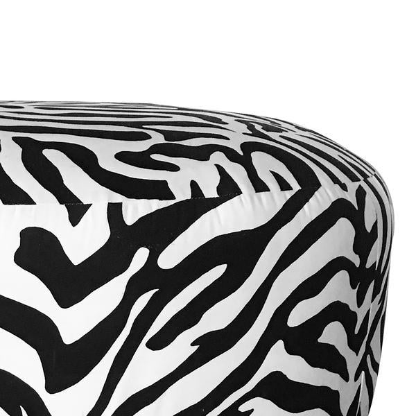 BELOW COST! - ZEBRA LIVING ROOM OTTOMAN - decorstore