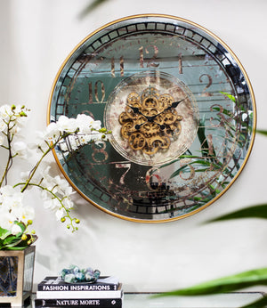 Round Mirror Wall Clock - decorstore