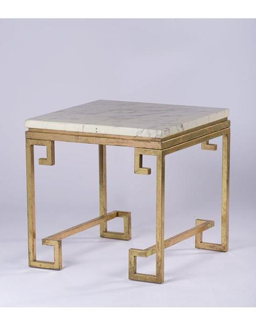 Hellenic Marble Bronze Side Table - decorstore
