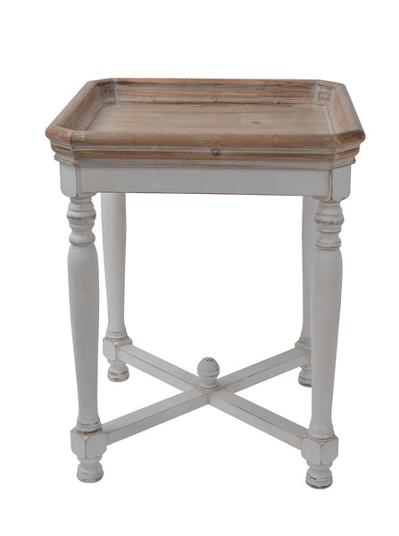 SQUARE BEACH SHACK SIDE TABLE - decorstore