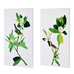 SET/2 BIRD AND BLOOM WALL ART GLOSS FINISH - decorstore
