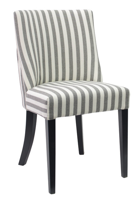 Ophelia Dining Chair Black And White Thick Stripe - decorstore