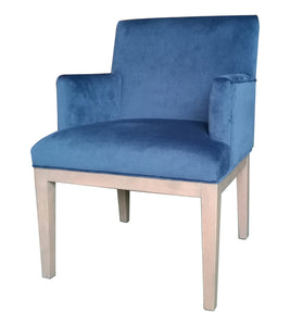 Brook Armed Dining Chair Royal Blue - decorstore