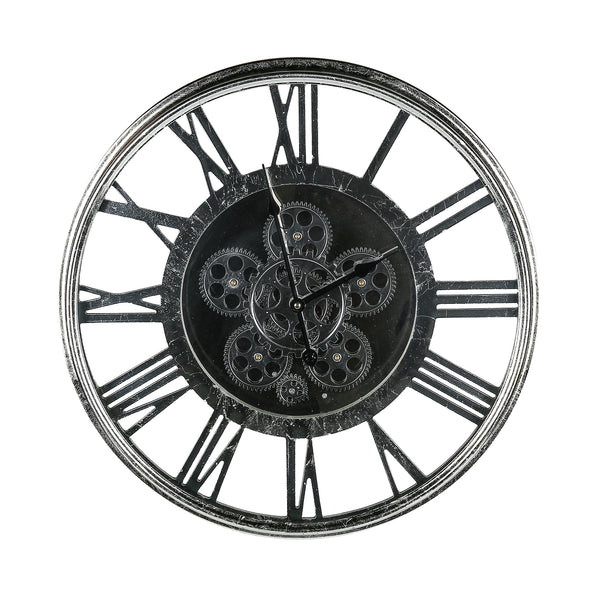 Metallic Clog Wall Clock - decorstore