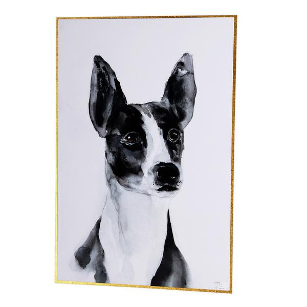 Dog Eared Wall Art Gloss Finish Gold Frame - decorstore